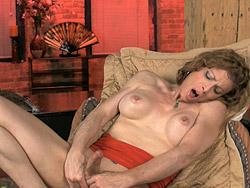 Jasmine masturbating Mature tranny Jasmine Jewels jerking off.