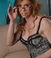 Reading hot titillating stories. Irresistible TMILF Jasmine Jewels jerking off