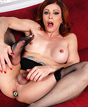 Jasmine playful domme. TMILF Jasmine toying in stockings