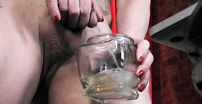 Urine and dirty talk. Nasty Jasmine tastes her own pee