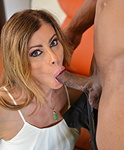 Jasmine blows coworker. Lascivious Jasmine blowing in the office