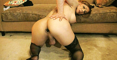 Stockings  hose and heels Naughty Jasmine seducing in lusty hose & heels.