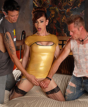 Jasmine 3way Super hot TMILF Jasmine make love in a hot threesome.