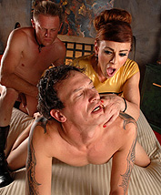 Jasmine 3way Excited Jasmine Jewels banging in a crazy 3some.